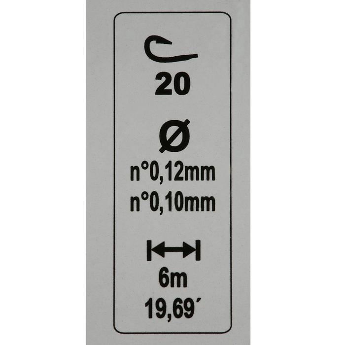 Vorfach RL Pole Lakeshow 0,6 g, Hakengröße 20