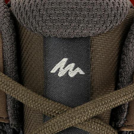 Arpenaz 100 Men's Waterproof hiking boots - Brown/Red