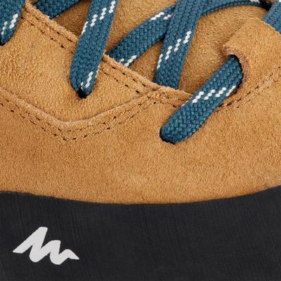 حذاء Apenaz جلد طبيعي للرجال للتنزه - بيج.