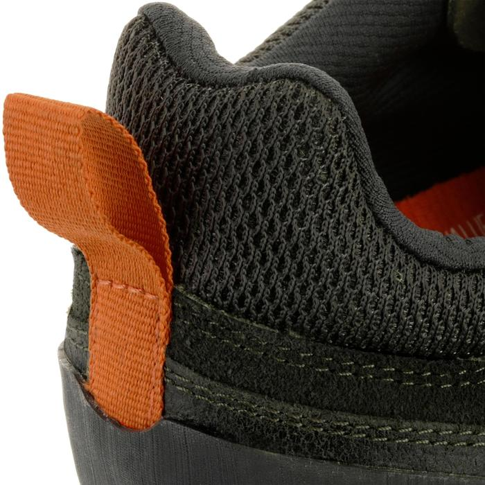 Schoenen voor wandelen in de natuur NH500 kaki/oranje heren