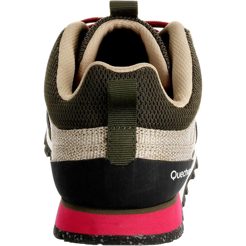 Chaussure Randonnée Arpenaz 500 Toile Femme Beige / Rose