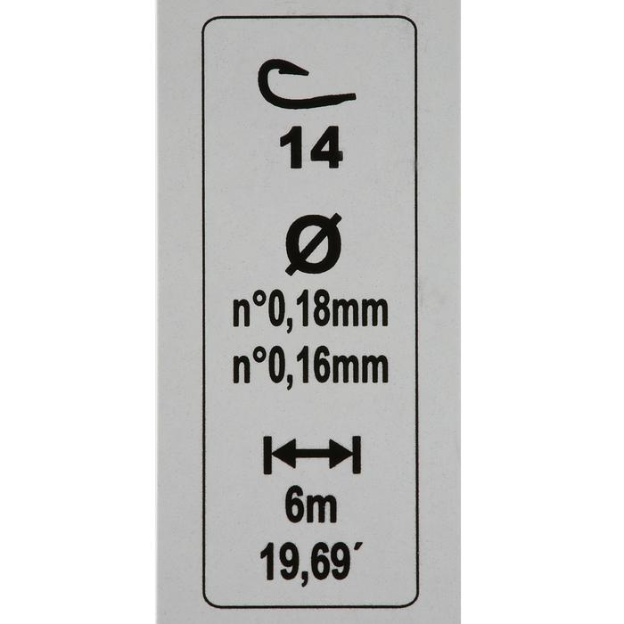 Posenmontage Stippangeln RL Lakesensiv Haken Gr. 12 2 Stück