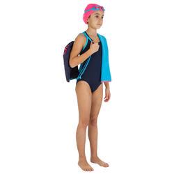 Complete zwemset Leony+ voor meisjes blauw/roze