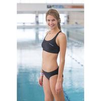 Leony Swimming Crop Top - Black