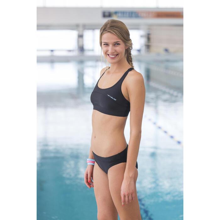 Sujetador-top de natación Leony Negro