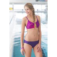 RIANA ALL LEAF bikini crop top - Purple
