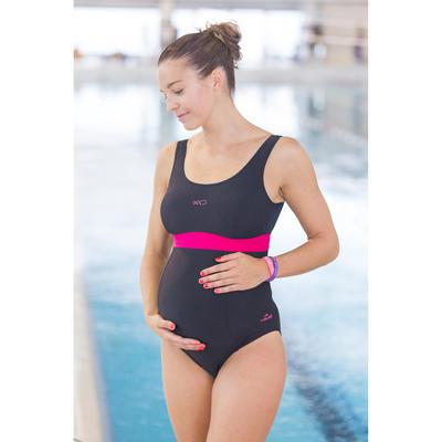 Суцільний купальник для вагітних Romane - Чорний/Рожевий