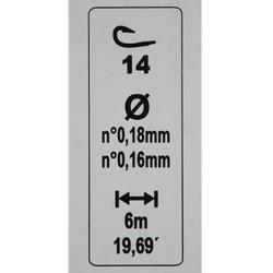 gemonteerde lijn statisch vissen rl pole riverthin 0,8 g H18 - 446426