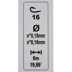 gemonteerde lijn statisch vissen rl pole riverthin 0,8 g H18 - 446427