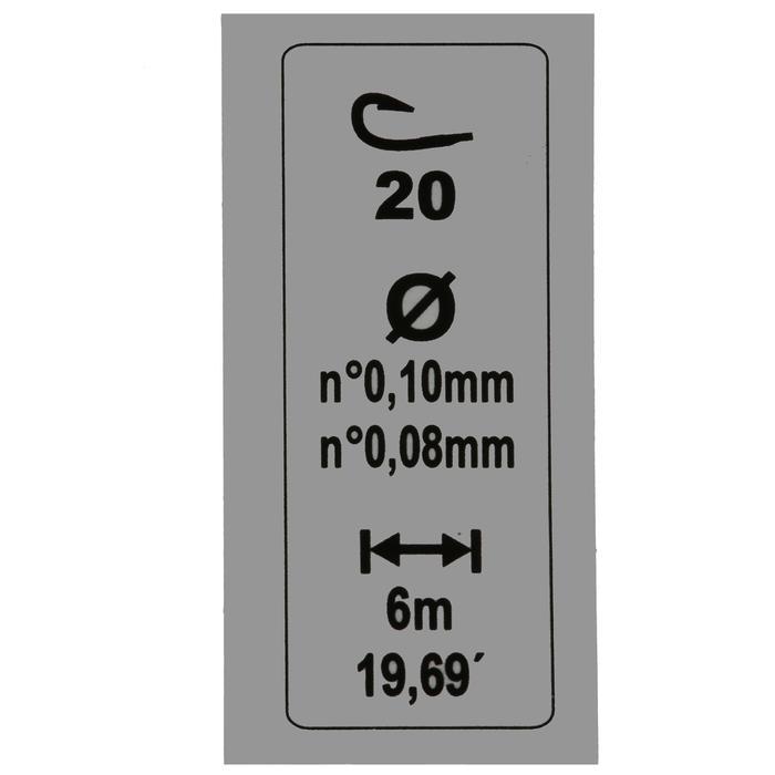 Vorfach RL Pole Lakeshow 0,4 g, Hakengröße 20