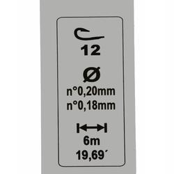 Gemonteerde lijn voor karperhengelen RL POLE LAKESENSIV 1,5G H12 CAPERLAN