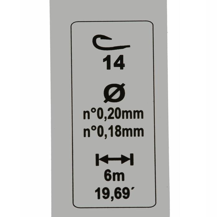 Posenmontage Stippfischen RL Pole Lakesensiv 1,2 g Haken Gr. 12