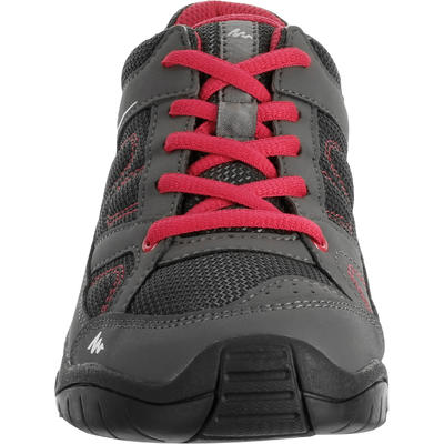 Arpenaz 50 Children's Hiking Shoes pink laces