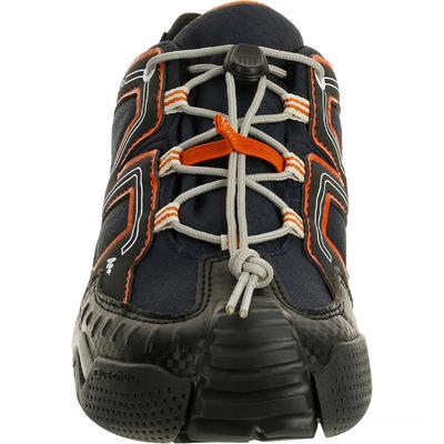 Chaussures de randonnée enfant Crossrock imperméables bleues/orange
