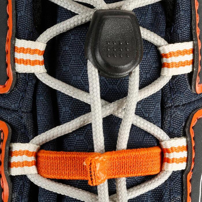 Waterdichte wandelschoenen voor kinderen Crossrock blauw/oranje