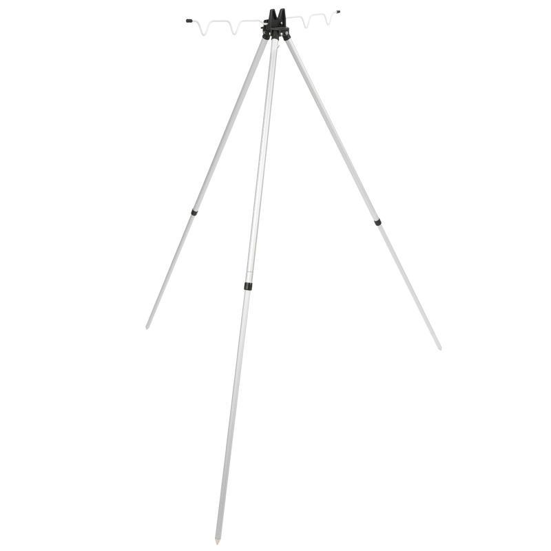 Telescopic tripod for 4 rods fishing at sea