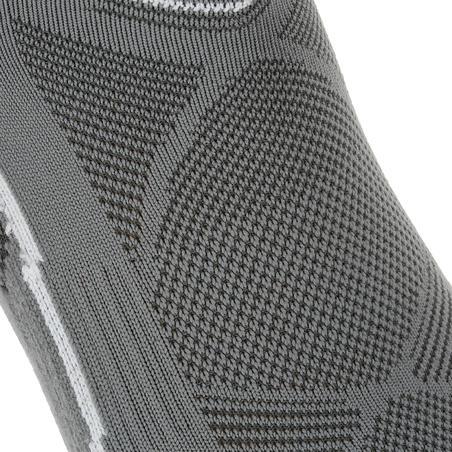 Forclaz 100 adult low cut hiking socks 2 pairs - grey.