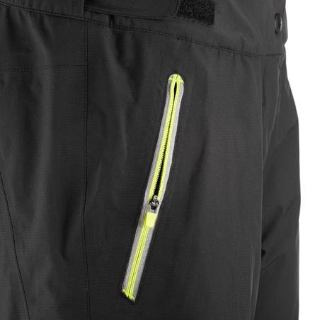 Mountain trail Women's hiking waterproof overtrousers - Black.