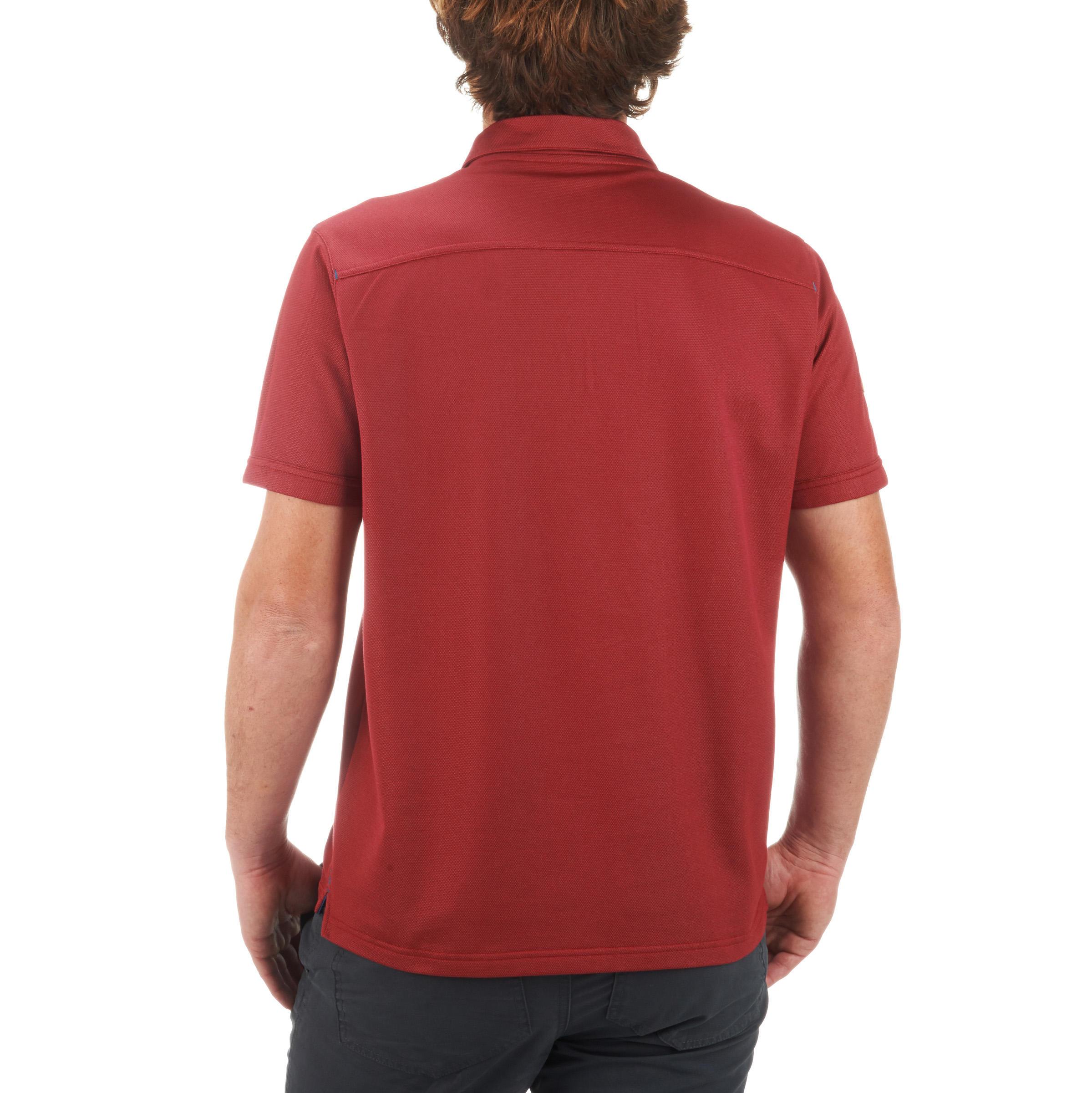 500 Arpenaz senderismo Polo para de rojo hombre lTKFc1J3