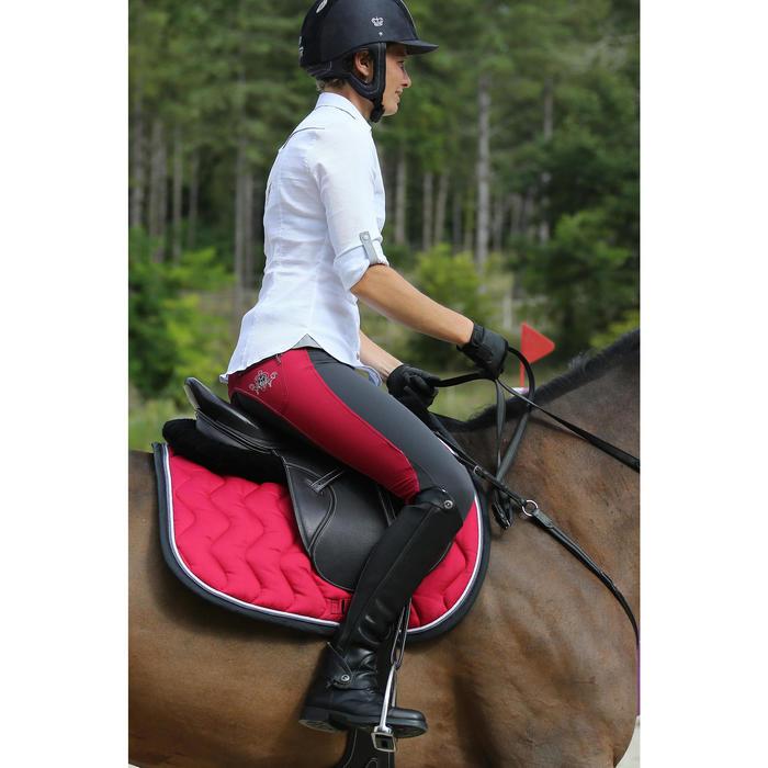 """Selle polyvalente en cuir à arçon réglable équitation cheval PADDOCK 17""""5 - 448841"""