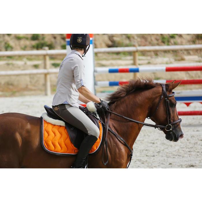"""Selle polyvalente en cuir à arçon réglable équitation cheval PADDOCK 17""""5 - 448842"""