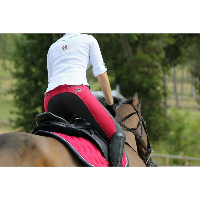 """Selle polyvalente en cuir à arçon réglable équitation cheval PADDOCK 17""""5 - 448844"""