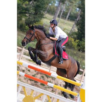 """Selle polyvalente en cuir à arçon réglable équitation cheval PADDOCK 17""""5 - 448846"""