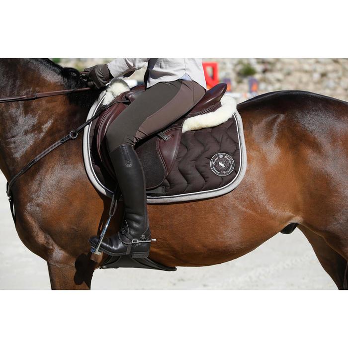 """Selle polyvalente en cuir à arçon réglable équitation cheval PADDOCK 17""""5 - 448847"""