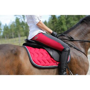"""Selle polyvalente en cuir à arçon réglable équitation cheval PADDOCK 17""""5 - 448850"""