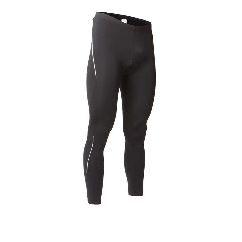 MEN COLD WEATHER ROAD CYCLING APPAREL Cycling - RC 100 Winter Road Cycling Tights - Black BTWIN - Cycling