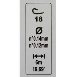 Gemonteerde lijn voor karperhengelen RL Lakesensiv 0,4 g H16 Caperlan