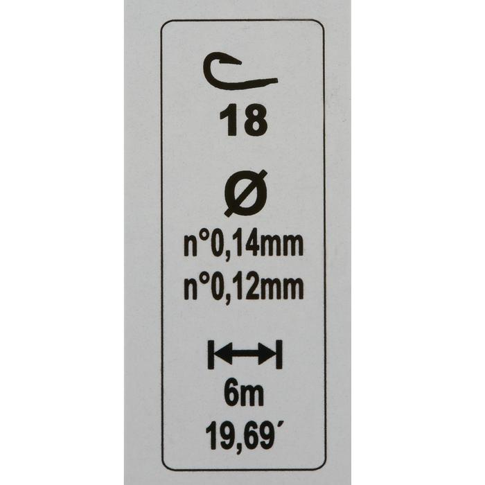 Vorfach RL Pole Rivershow 0,8 g, Hakengröße 18