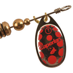 Spinner hengelsport Weta #1 goud/rode stippen - 449590