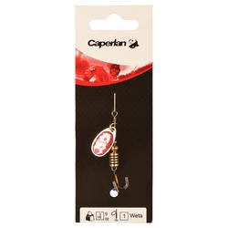 Spinner hengelsport Weta #1 goud/rode stippen - 449592