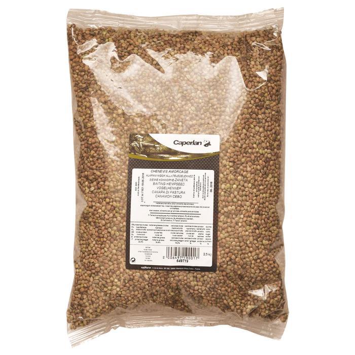 Futtermehl Hanfsamen zum Ködern 2,5 kg