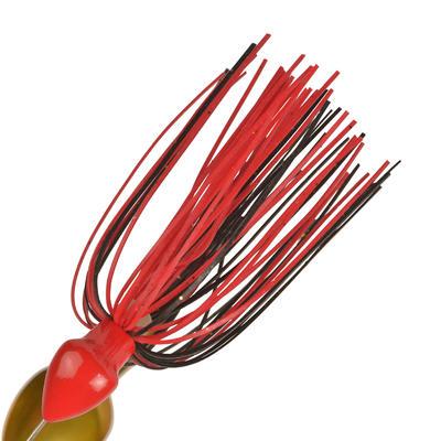 Spinnerbait para pesca con señuelos Buckhan 3/8oz rojo / negro
