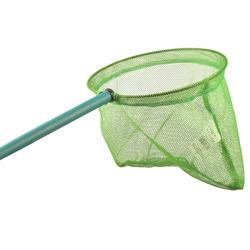 Landing net hijau menjelajah dunia air