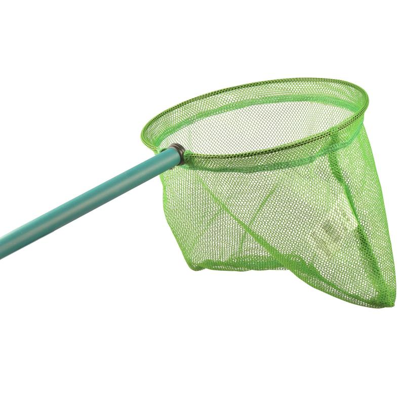 Landing net green discovering the world of water