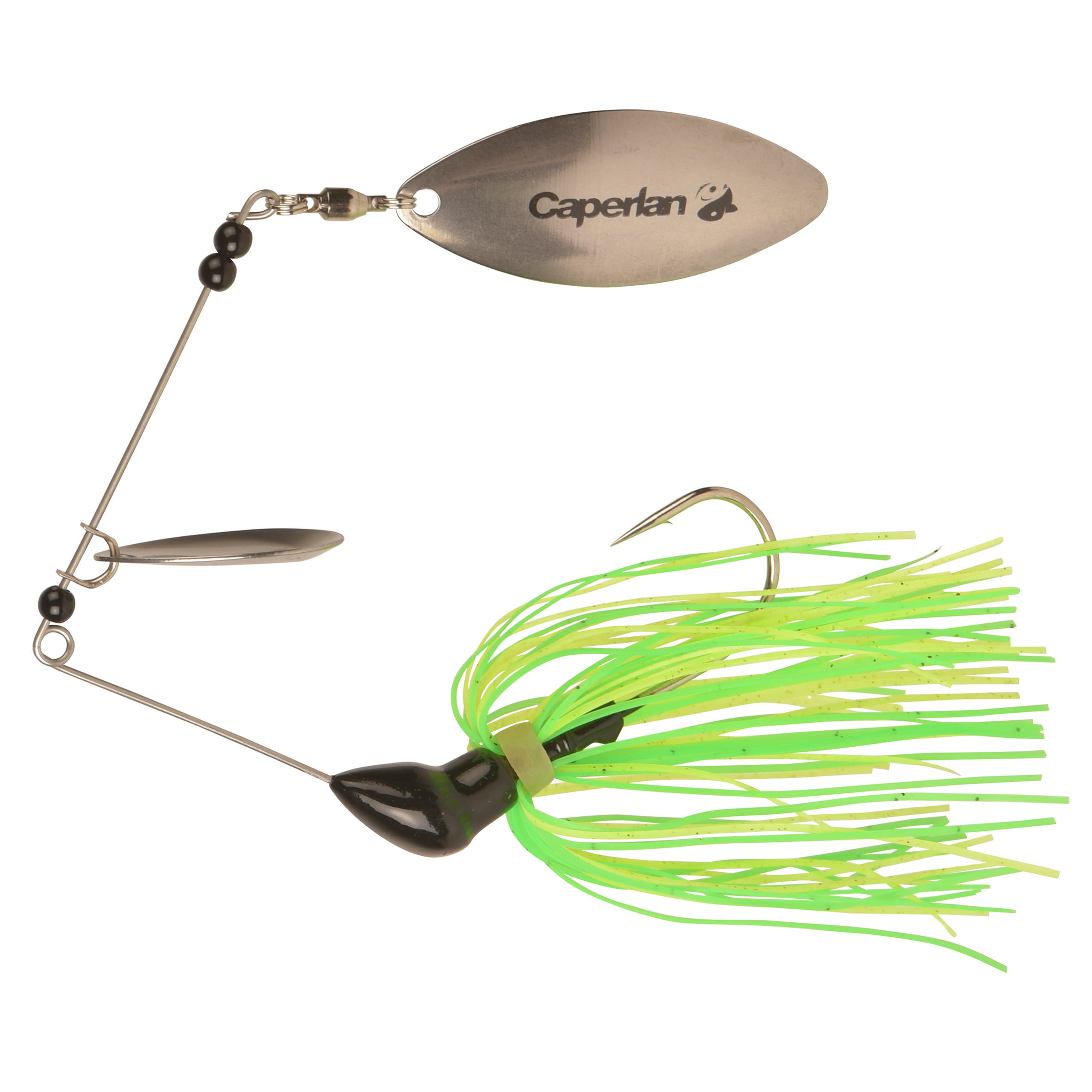 Buckhan 3/8oz Yellow/Green Lure Fishing Spinnerbait