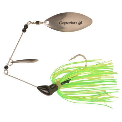 Spinnerbait para pesca con señuelos Buckhan 3/8oz amarillo / verde