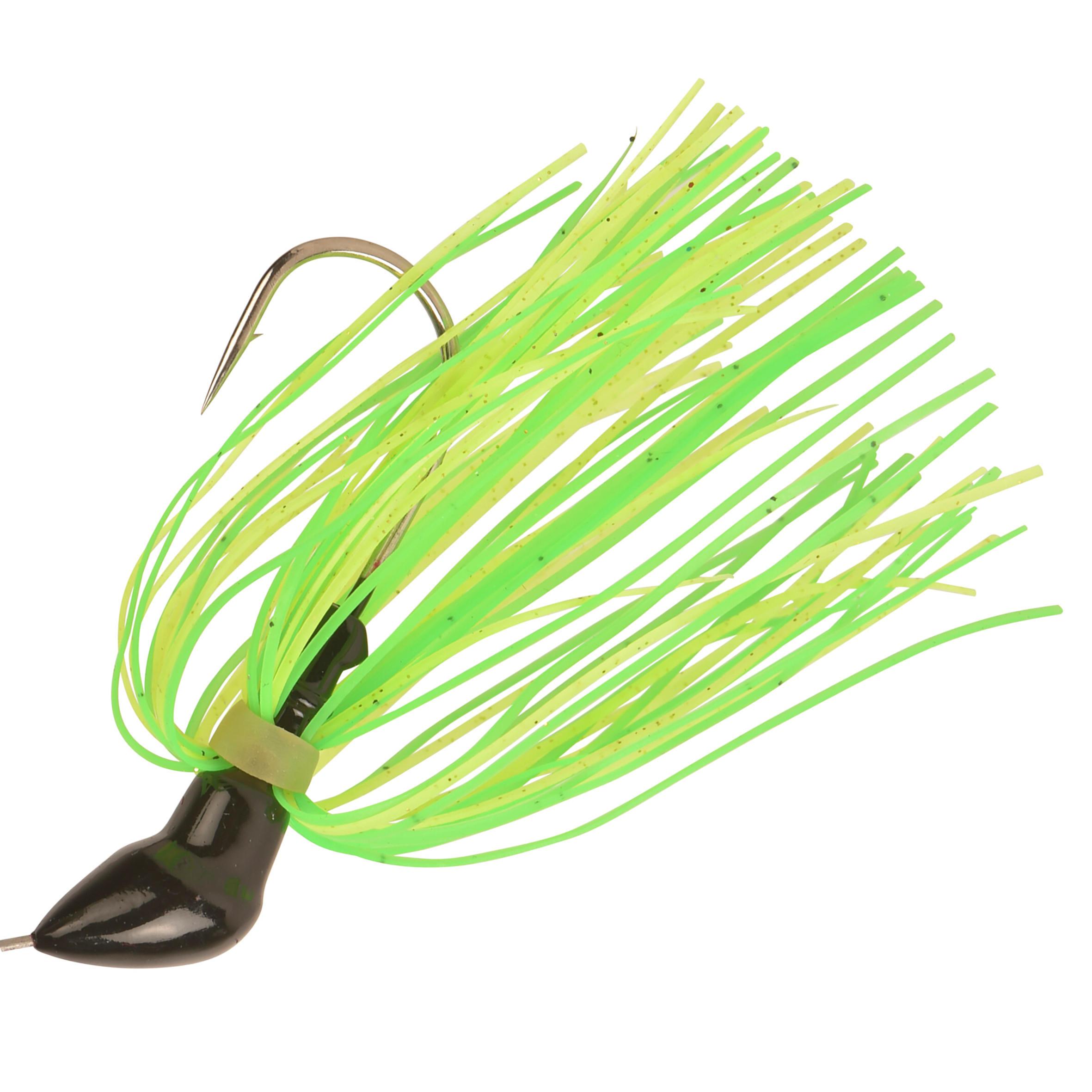 Cuillère tournante en épingle pêche aux leurres Buckhan 3/8 oz jaune/vert