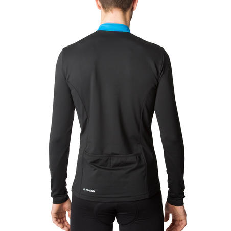 300 Long-Sleeved Cycling Jersey - Black/Blue