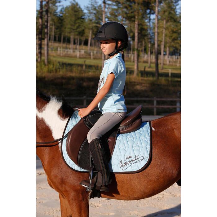 Pantalon équitation enfant FULLSEAT noir et - 450117