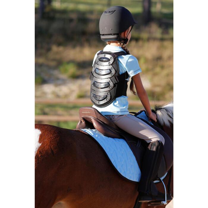 Pantalon équitation enfant FULLSEAT noir et - 450118