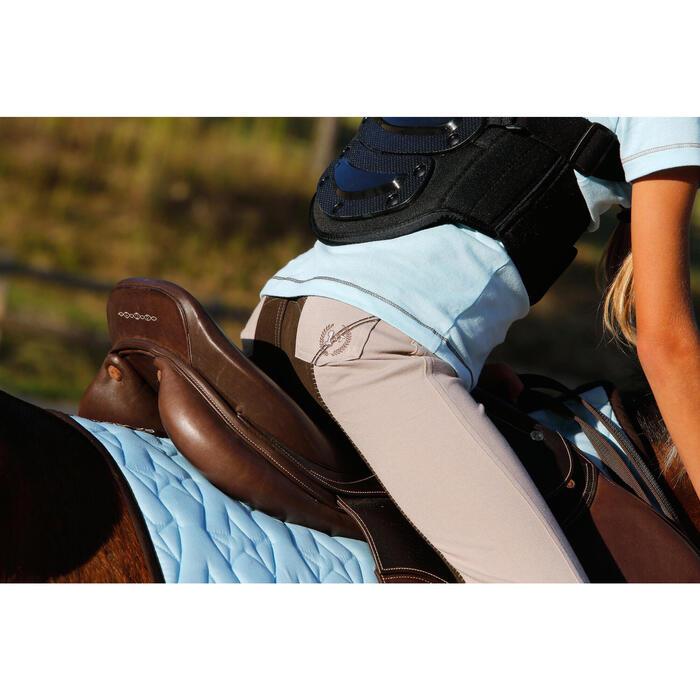 Pantalon équitation enfant FULLSEAT noir et - 450119