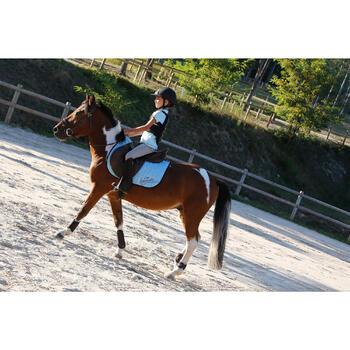 Pantalon équitation enfant FULLSEAT noir et - 450120