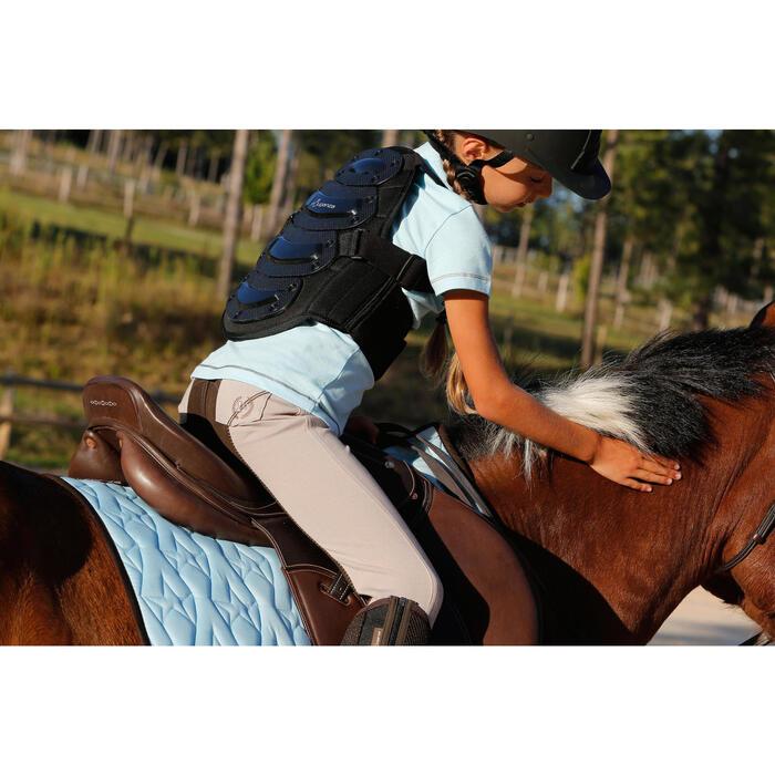 Pantalon équitation enfant FULLSEAT noir et - 450121