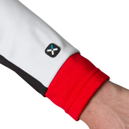 500 Long-Sleeved Cycling Jersey - White/Red