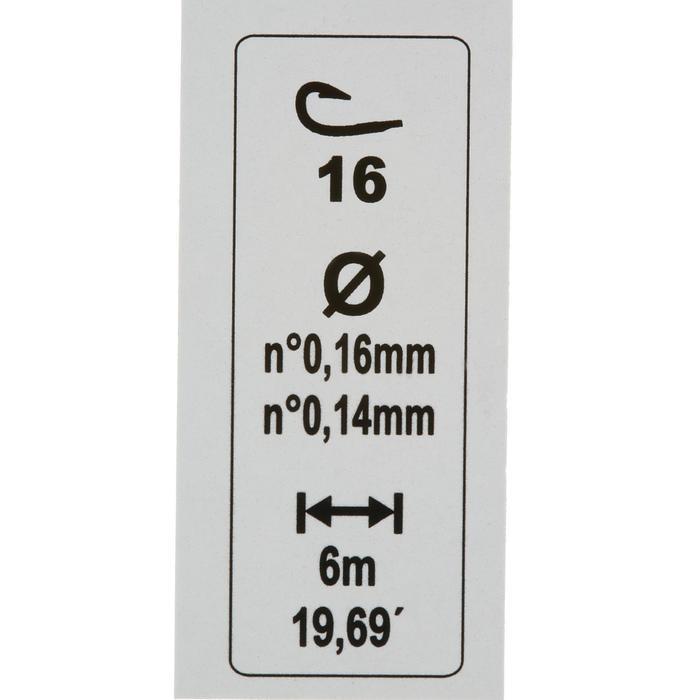 Fertigmontage RL Riverlake, Haken Gr. 16, 3 Stück, Stippangeln