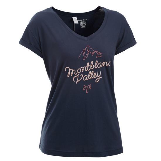 T-shirt korte mouwen trekking dames Arpenaz 100 - 450608